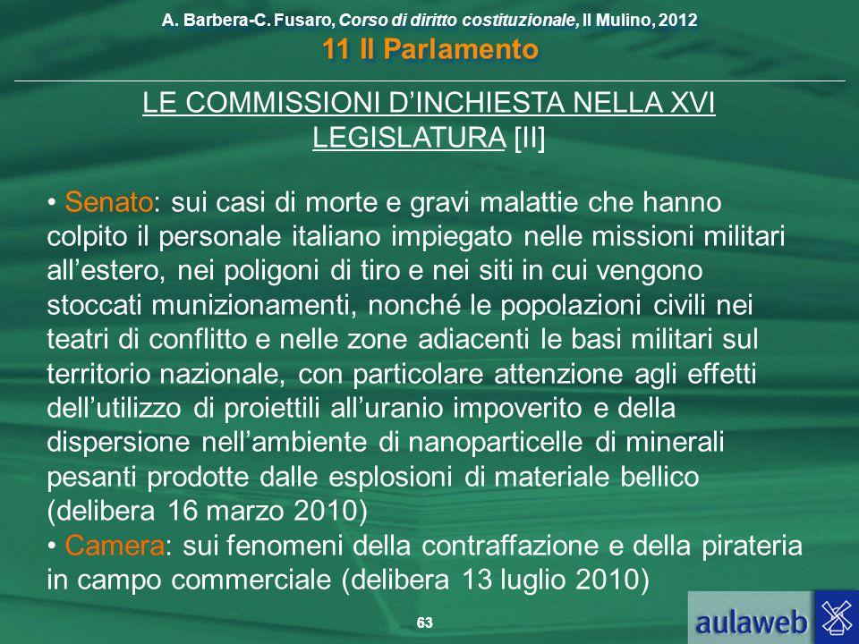 LE COMMISSIONI D'INCHIESTA NELLA XVI LEGISLATURA [II]